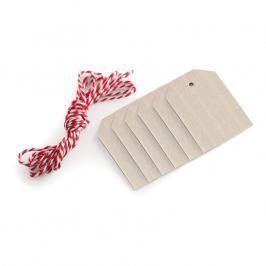 NordicWare Dřevěné visačky s provázem Wood Tags & Bakers Twine 6 kusů, Nordic Ware