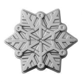 NordicWare Forma na koláč Frozen Snowflake Bundt® stříbrná, Nordic Ware