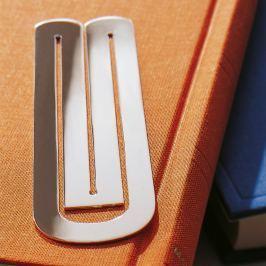 Robbe & Berking Stříbrná záložka do knihy symbol