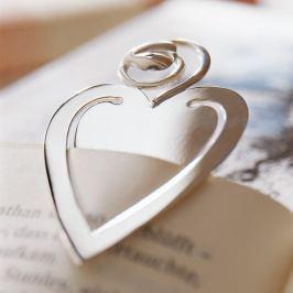 Robbe & Berking Stříbrná záložka do knihy srdce