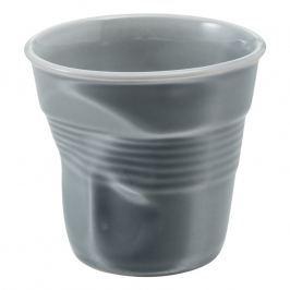 REVOL Kelímek na espresso 8 cl šedá Froissés