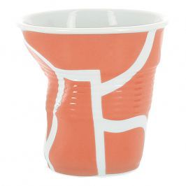 REVOL Kelímek na espresso 8 cl All over orange Froissés