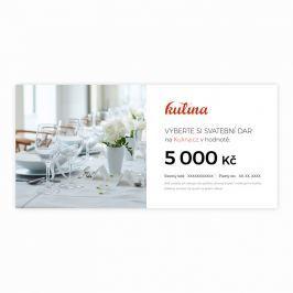 Svatební dárkový certifikát v hodnotě 5000 Kč