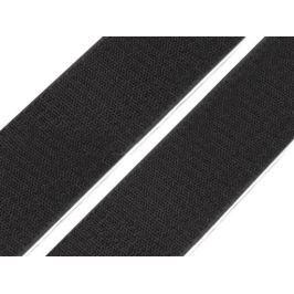 Suchý zip háček samolepící šíře 50 mm černý (25 m)