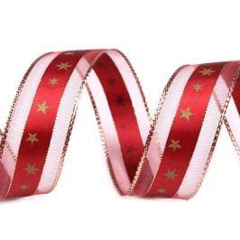 Vánoční stuha s lurexem šíře 25 mm (20 m)