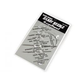 Ruční jehly na kůži, pytlovinu, koberce, matrace - sada 7 ks (1 karta)