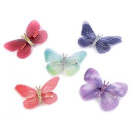 Motýl s klipem (12 ks)