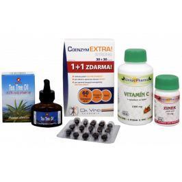 Sada Na Dásně a zuby - RTJ Tea Tree Oil 20 ml + Unios Pharma Vitamín C 1000 mg + Unios Pharma Zinek 15 mg + Da Vinci Coenzym Extra Strong 60 mg