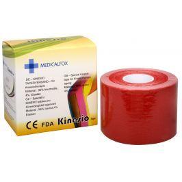 Medicalfox Tejpovací páska Kinezio 5 cm x 5 m Červená
