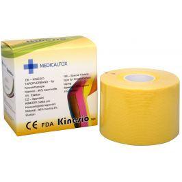 Medicalfox Tejpovací páska Kinezio 5 cm x 5 m Žlutá