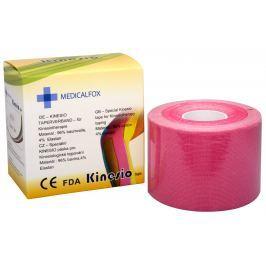 Medicalfox Tejpovací páska Kinezio 5 cm x 5 m Růžová
