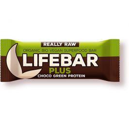 Lifefood Bio tyčinka Lifebar Plus čokoláda a konopný protein 47g
