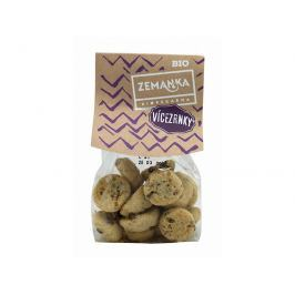 Biopekárna Zemanka Bio Vícezrnné sušenky s čokoládou a vločkami 100 g