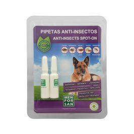Menforsan Antiparazitní pipety pro psy (100% Natural Repellent Anti-parasite Spot on for Dogs) 2 x 1,5 ml