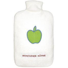 Hugo-Frosch Termofor Eco Classic Comfort s krémovým fleecovým obalem - motiv jablka