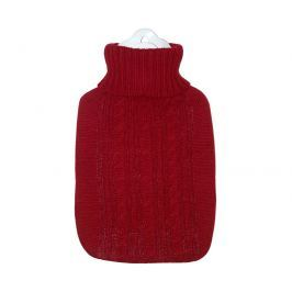 Hugo-Frosch Termofor Classic s pleteným obalem - červený