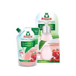 Frosch Tekuté mýdlo s granátovým jablkem v dávkovači 300 ml + náhradní náplň 500 ml