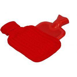 BeautyRelax Termofor ohřívací láhev s návlekem BR-495Č Červená