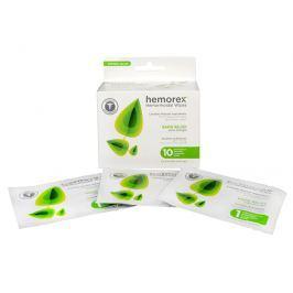 Hemorex Vlhčené ubrousky na hemoroidy 10 ks