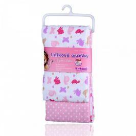T-tomi Látkové osušky 80 x 100 cm 2 ks Pink snails / růžoví šneci