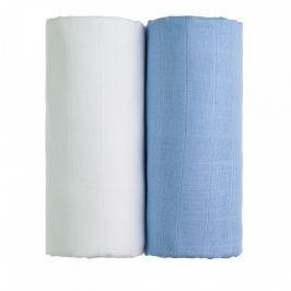 T-tomi Látkové TETRA osušky 90 x 100 cm 2 ks white + blue / bílá + modrá