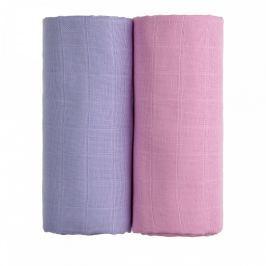 T-tomi Látkové TETRA osušky 90 x 100 cm 2 ks pink + lilac / růžová + fialová