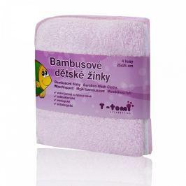 T-tomi Bambusové koupací žínky 25 x 25 cm 4 ks Pink / růžová