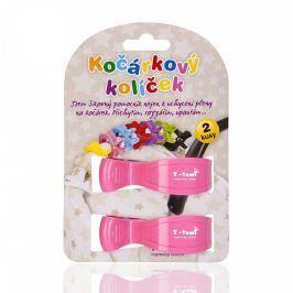 T-tomi Kočárkový kolíček 2 ks Pink / růžová