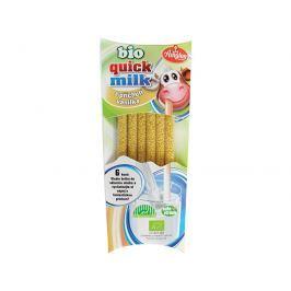 Amylon Bio Quick Milk Magická brčka do mléka s příchutí vanilka Amylon 6x6g