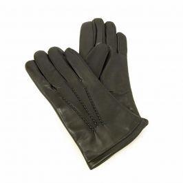Vystyd Luxusní pánské rukavice s kožešinou - černé 8,5