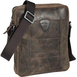 Strellson Pánská kožená taška 4010001454, hnědá