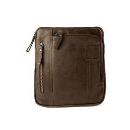 Strellson Pánská kožená taška přes rameno 4010001927, hnědá