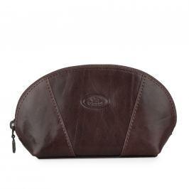 GONG Kožená kosmetická taška 6824 - hnědá