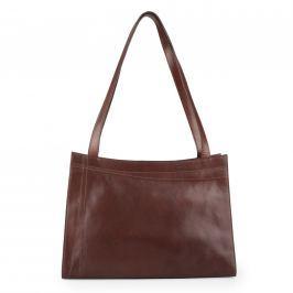 Elega Dámská kožená kabelka přes rameno 67525 - hnědá