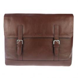 Esquire Pánská kožená Messenger taška Esquire 781306, hnědá