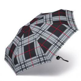 Happy Rain Deštník Petito Checks Grey 33023