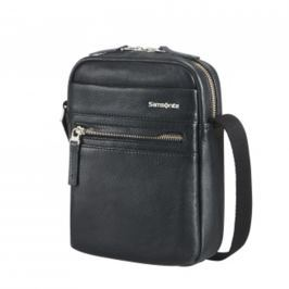 Samsonite Pánská kožená taška přes rameno HIP-CLASS LTH 71D-001 - černá