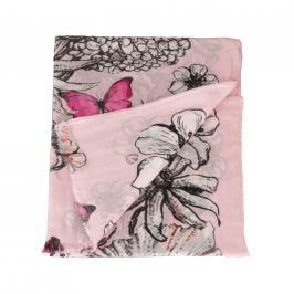 Fraas Dámský bavlněný obdélníkový šátek 623430-430 - růžová