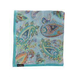 Fraas Dámský hedvábný čtvercový šátek 612170-510 - tyrkysová