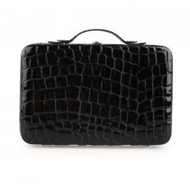 Solingen Kufřík na manikúru krokodýlí lesklý 1781-89 - černá