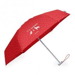 Samsonite Deštník Alu Pattern F82-005 - červená