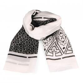 Calvin Klein Dámský čtvercový šátek Bandana Print K60K604249 - bílo-černý