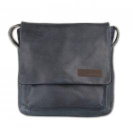 Strellson Pánská kožená taška přes rameno Goldhawk 4010002334 - tmavě modrá