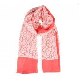Calvin Klein Dámský obdélníkový šátek CK Allover K60K604136 - červená