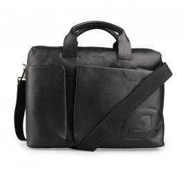 Strellson Pánská kožená taška přes rameno Jones 4010002358 - černá