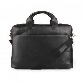 Strellson Pánská kožená taška přes rameno Jones 4010002359 - černá