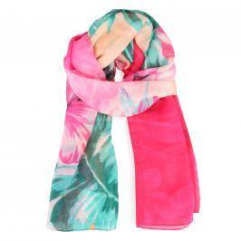 Desigual Dámský obdélníkový šátek Foulard Malibu Rectangle 18SAWWA1 - růžová
