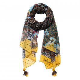 Desigual Dámský obdélníkový šátek Foul Afro 18WAWW04 - multicolor