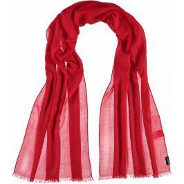 Fraas Dámský hedvábný obdélníkový šátek 622154 - červená