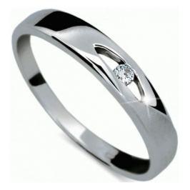 Danfil Zlatý prsten s diamantem DF1281b 62 mm